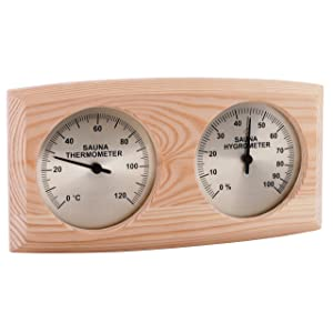 SAWO CURVED BOX TYPE THERMO-HYGROMETER 271-THBP