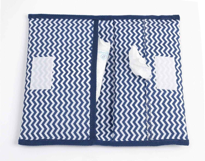 KipKep Napper Windeletui - Ziggy Blue - kleine kompakte Windeltasche für unterwegs mit Feuchttuchspender 2372