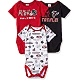 NFL NFL Baby-Boy 3 Pack Short Sleeve Bodysuit