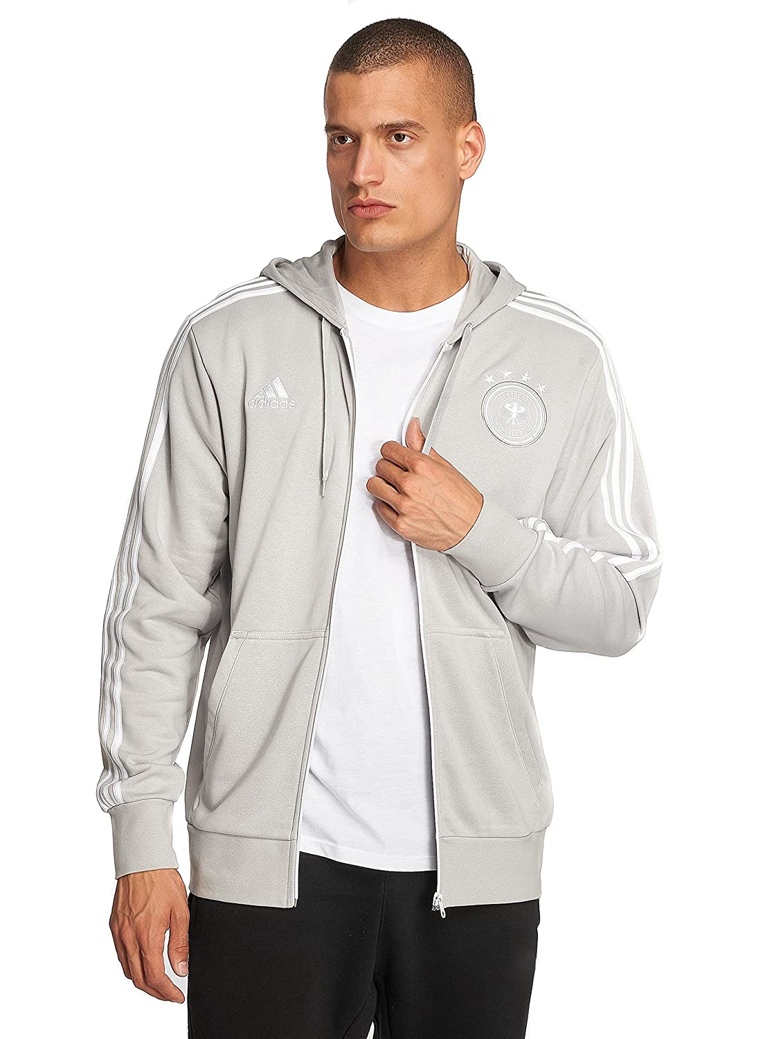 biggest discount picked up official Amazon.com : adidas 2018-2019 Germany 3S Full Zip Hoody ...