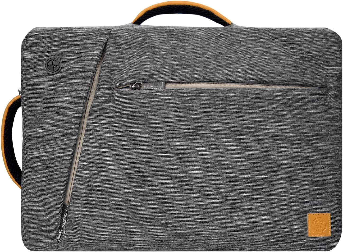 Vangoddy Slate Hybrid Briefcase Backpack Messenger Bag for Acer Laptop Up to 15.6 Black