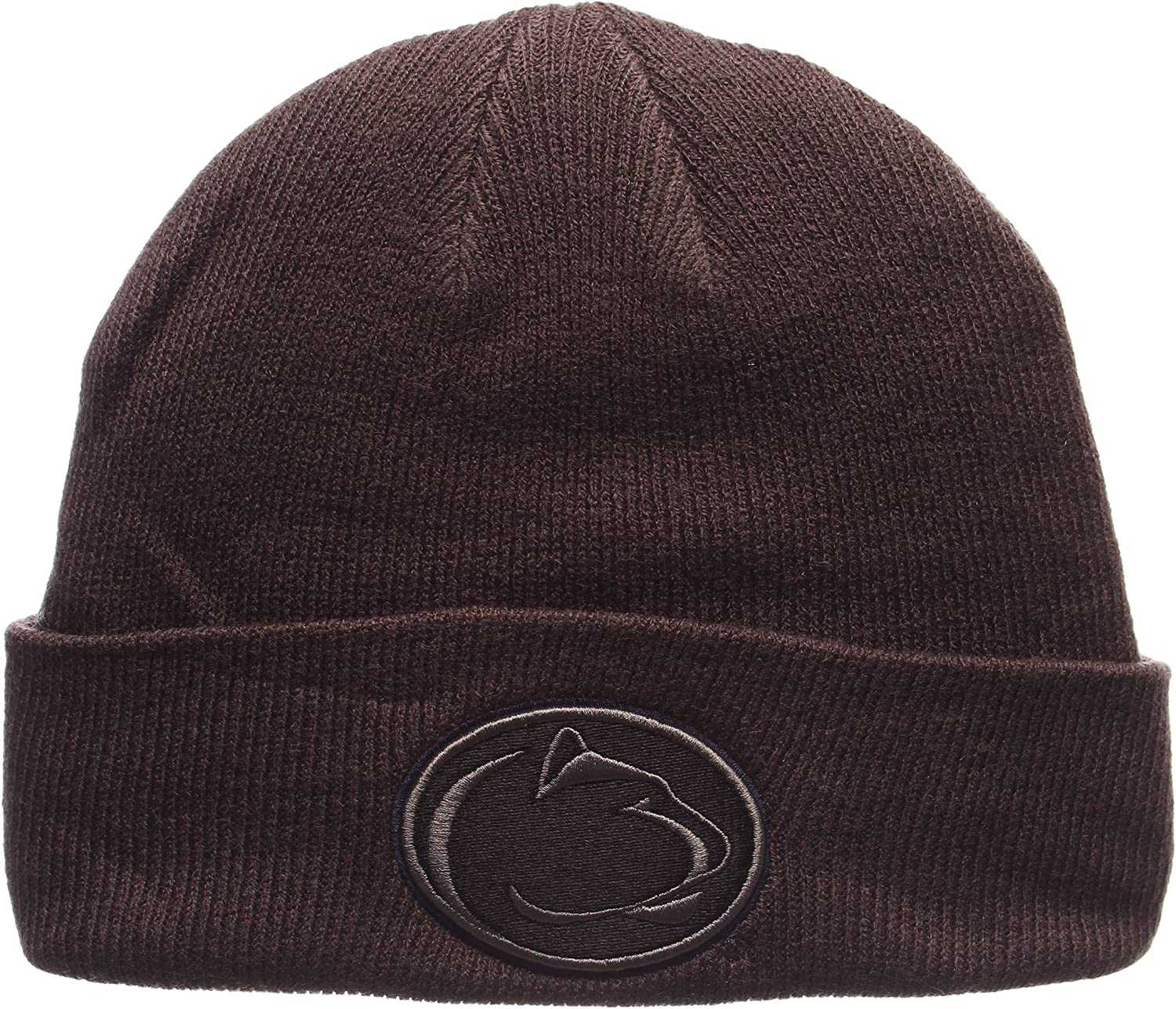 Zephyr Charcoal Gray X-RAY POP Cuff Beanie Hat NCAA Cuffed Winter Knit Toque Cap