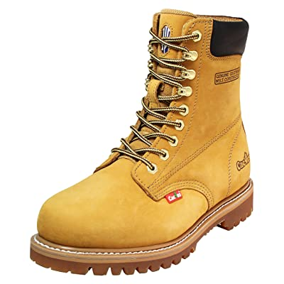 "Cactus Men's 8"" Leather Oil-Resistant Outsole Work Boots 
