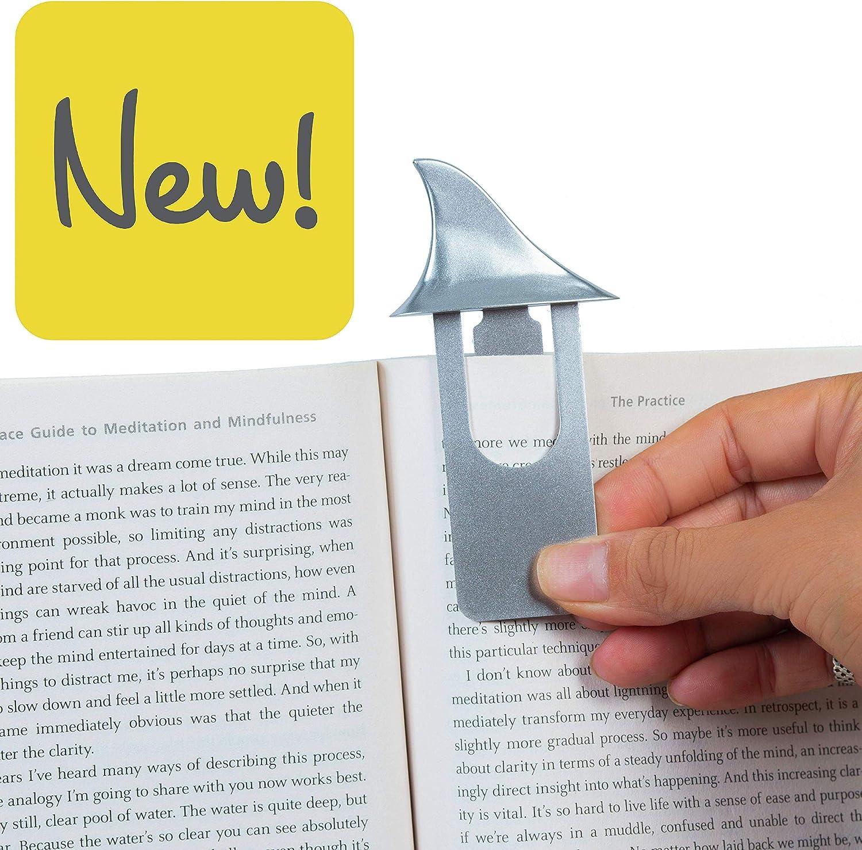 Squalo Gifts for Readers /& Writers Fish Tales novit/à Segnalibro Divertente Reggi Pagine Segna Libro per Lettura Regalo per Amante dei Libri