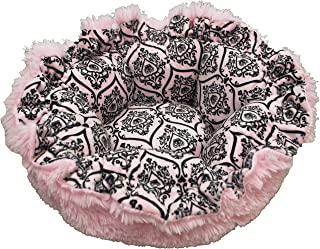 product image for BESSIE AND BARNIE Ultra Plush Versailles Pink/Bubble Gum Luxury Shag Deluxe Dog/Pet Cuddle Pod Bed