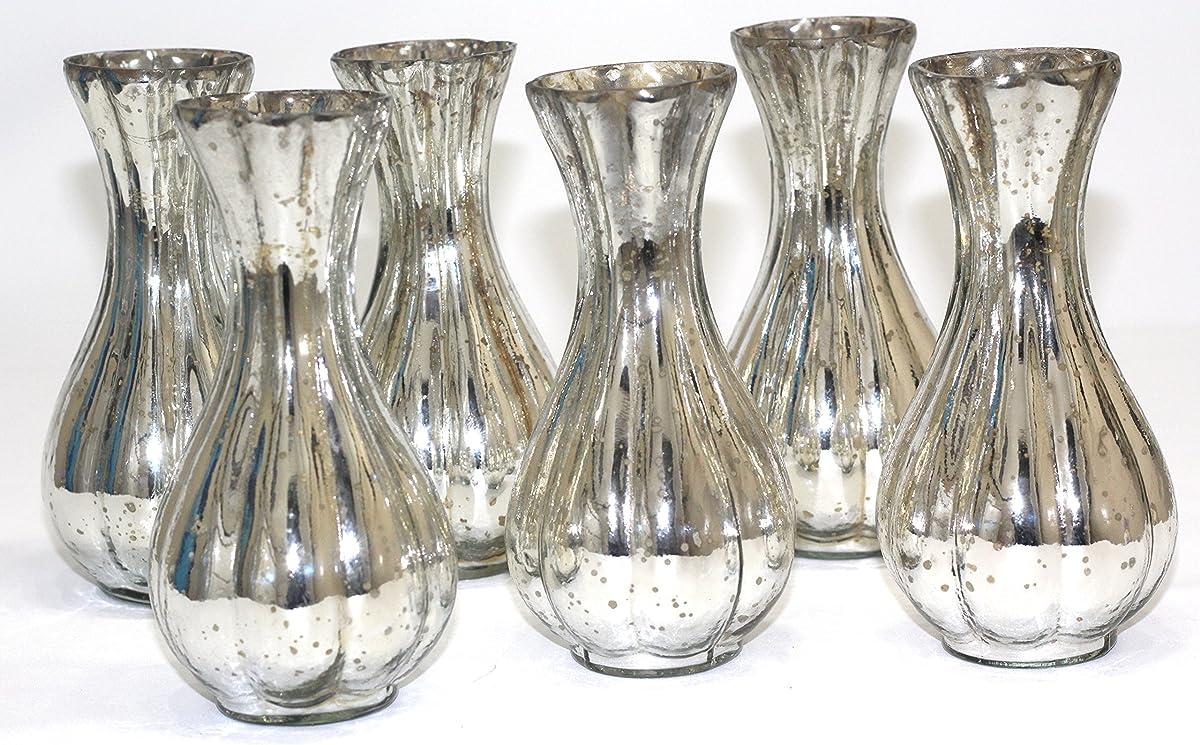 antique silver glass bud vase (6)
