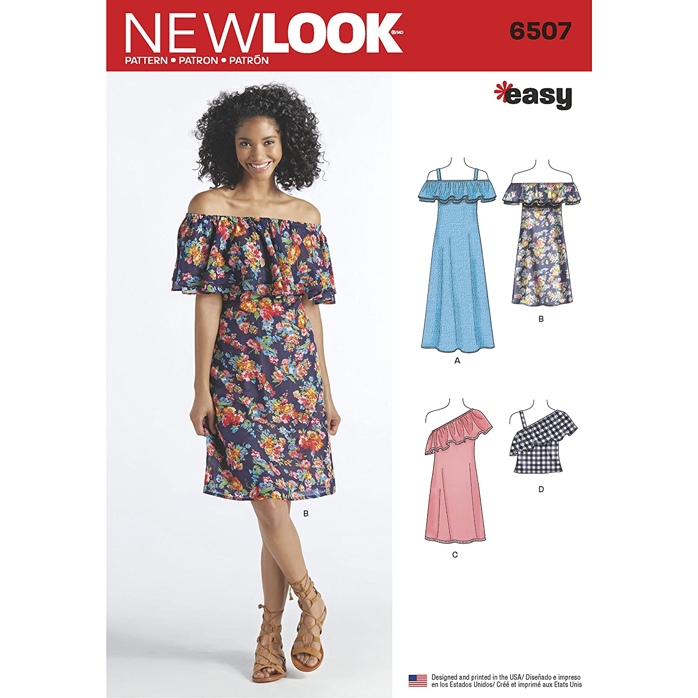 Simplicity Muster New Look Damen Kleider und Top Schnittmuster, weiß ...