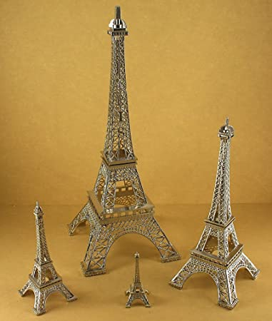 Dreampartycreation Silver Eiffel Tower Paris France Metal Stand Model For Home Decor Or Wedding Theme Choose