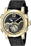 Stuhrling Original Men's 'Tourbillon' Mechanical Hand Wind Stainless Steel and Black Shark Skin Dress Watch (Model: 407A.333X31)