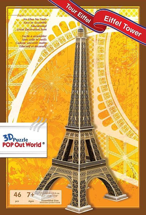 SCHOLAS SP11-0295. Puzzle 3d Torre Eiffel. 46 piezas: Amazon ...