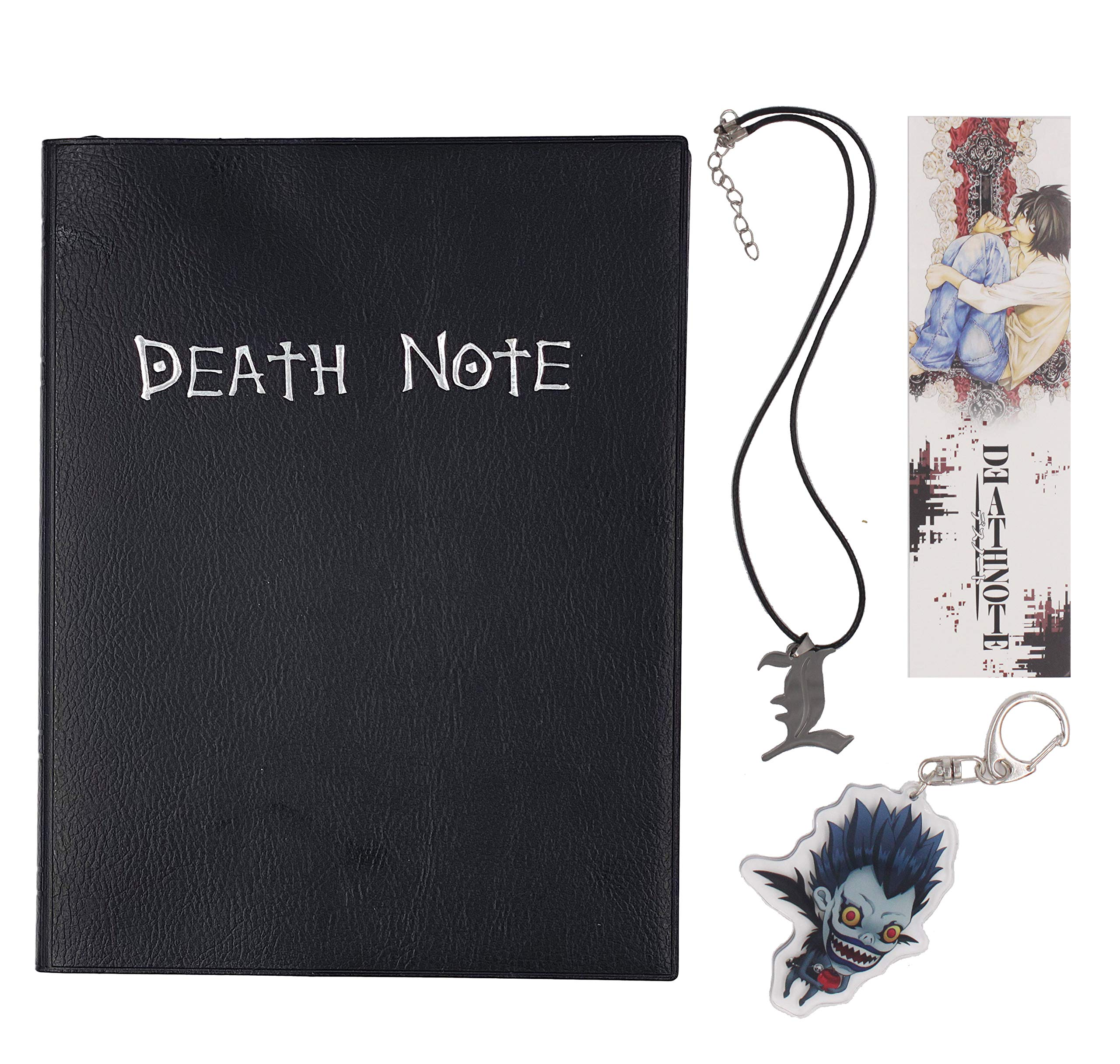 Goldenvalueable Animie Death Note Cosplay with Feather Pen Necklace and Key Chain (Gift Version)