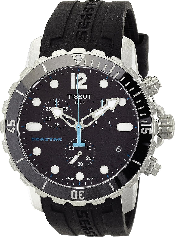 Tissot T066.417.17.057.00 Montre à Quartz chronographe pour Hommes en Caoutchouc