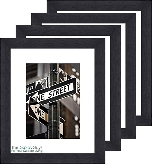 8x10 11x14 16x20 Contemporary Black Wooden Picture /& Poster Frame w// Mat Board