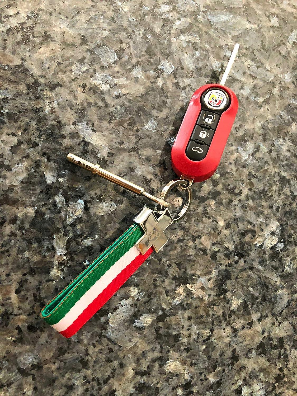 500 500C Keyring Key Ring Fabric Accessory Italy Italia Italian Flag