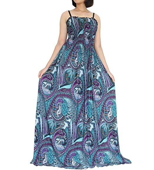 Tall Women Plus Size Maxi Long Dress Gifts Holidays Party Wear Beach Boho  Strapy Multi Color 64b14c815