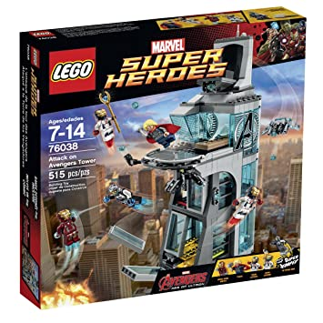 Amazon.com: LEGO Super Heroes Attack on Avengers Tower 76038: Toys ...