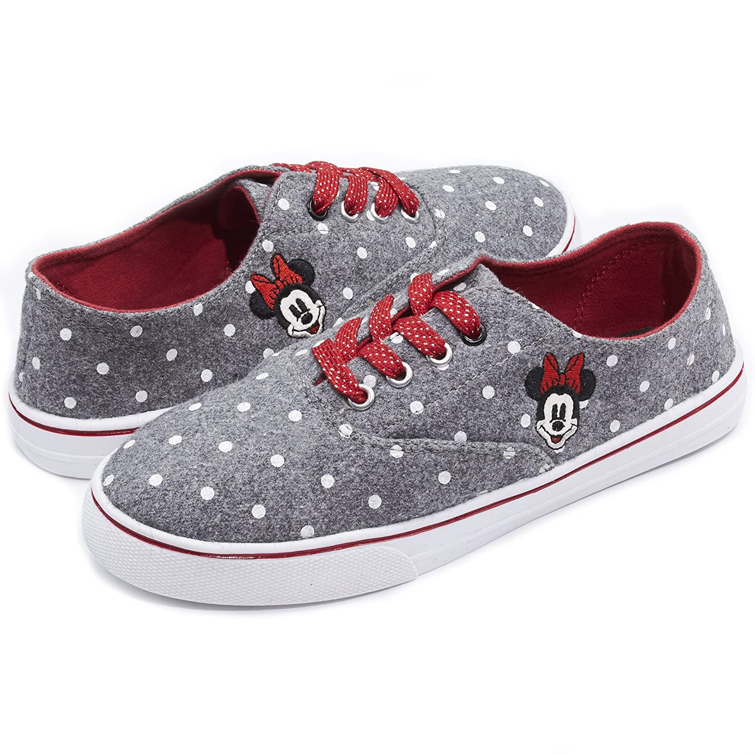 Disney Junior Teen Girls Low Top Mickey and Minnie Fashion Sneakers (See More Designs and Sizes) B074CF8N15 11 B(M) US|Grey