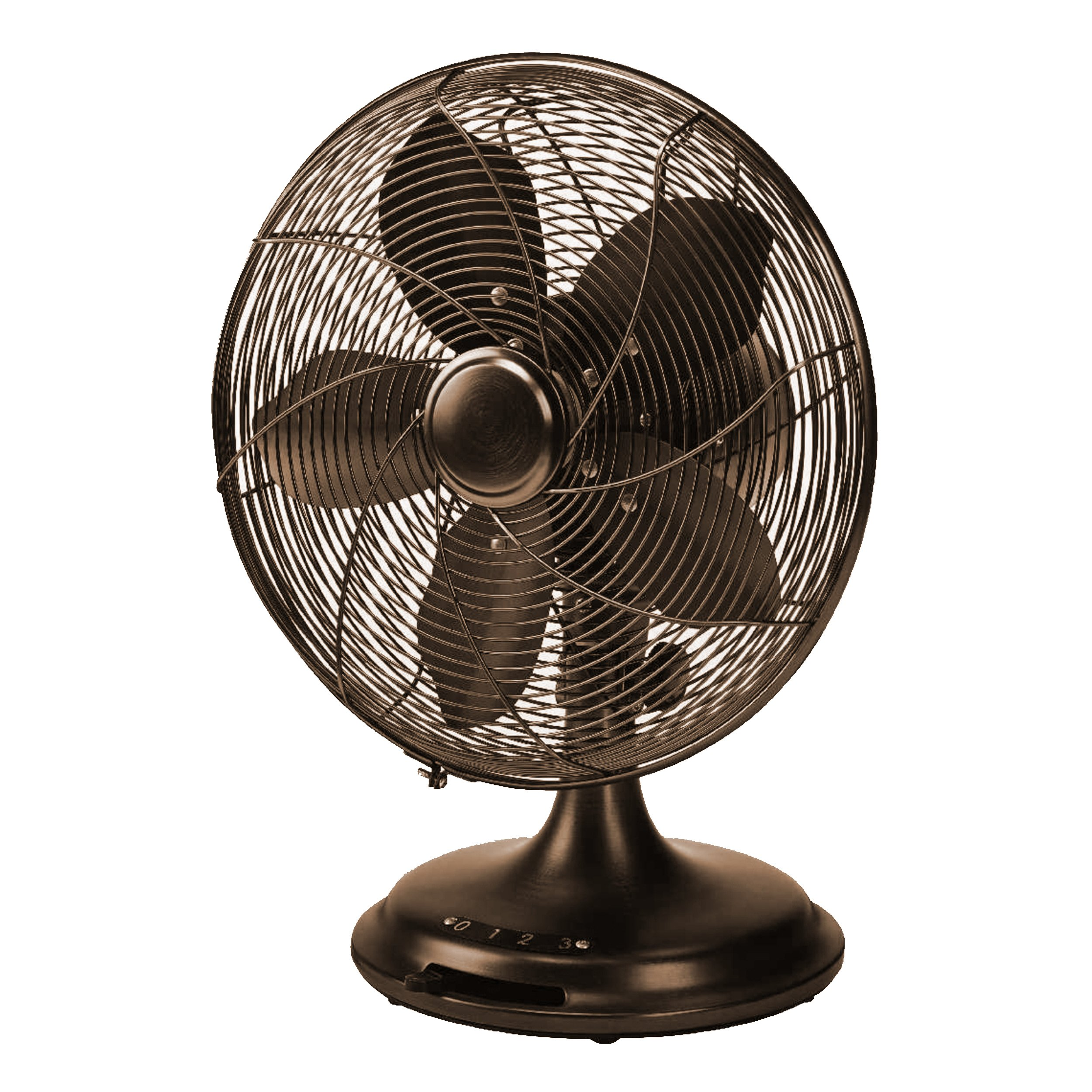 Homevision Technology 12'' Retro Desk Fan, Black (CT40060T) Cooling CT40060T