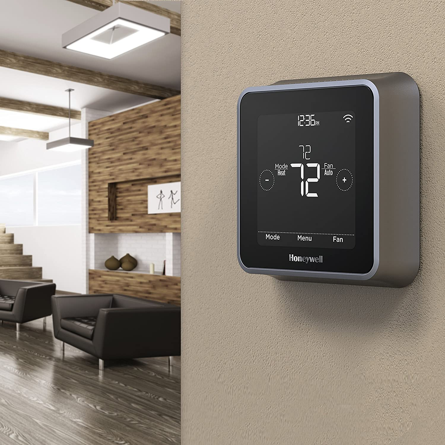 honeywell rcht8610wf2006 lyric t5 wi fi smart 7 day programmable honeywell rcht8610wf2006 lyric t5 wi fi smart 7 day programmable touchscreen thermostat with geofencing works with amazon alexa amazon com