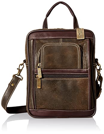 2e6274203f Amazon.com  Claire Chase Men s Ultimate Manbag Extra Large Shoulder Bag  Distressed Brown One Size  Claire Chase