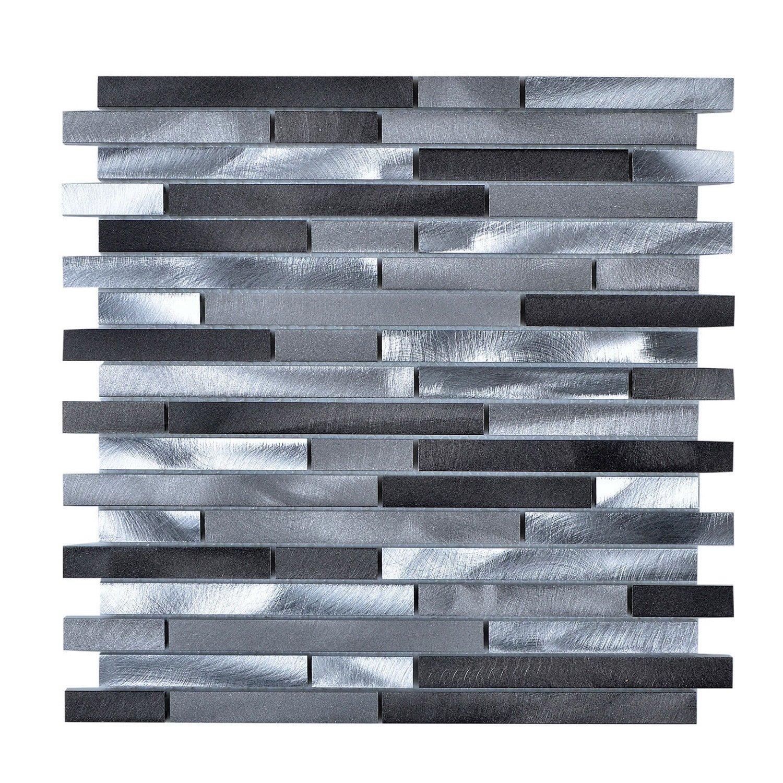 Legion Furniture Multi-Grey Aluminum Wall Tile