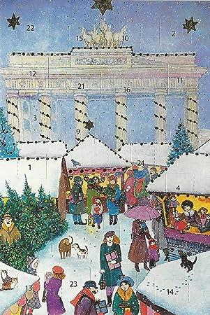 Weihnachtsgrüße Aus Berlin.Adventskalenderkarten Berlin 5 Stück Nostalgie Weihnachten