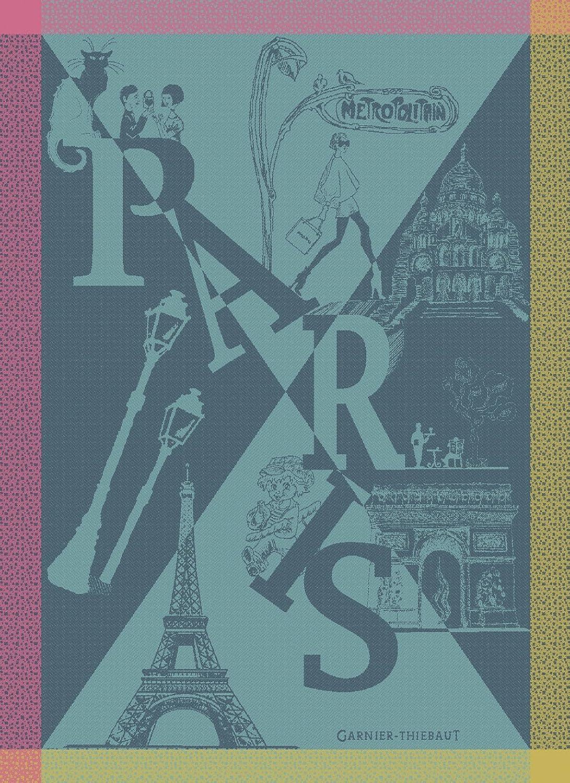 Garnier Thiebaut、パリBoheme Folies Woven Frenchキッチン/ティータオル、100 %コットン B0794DVQDZ