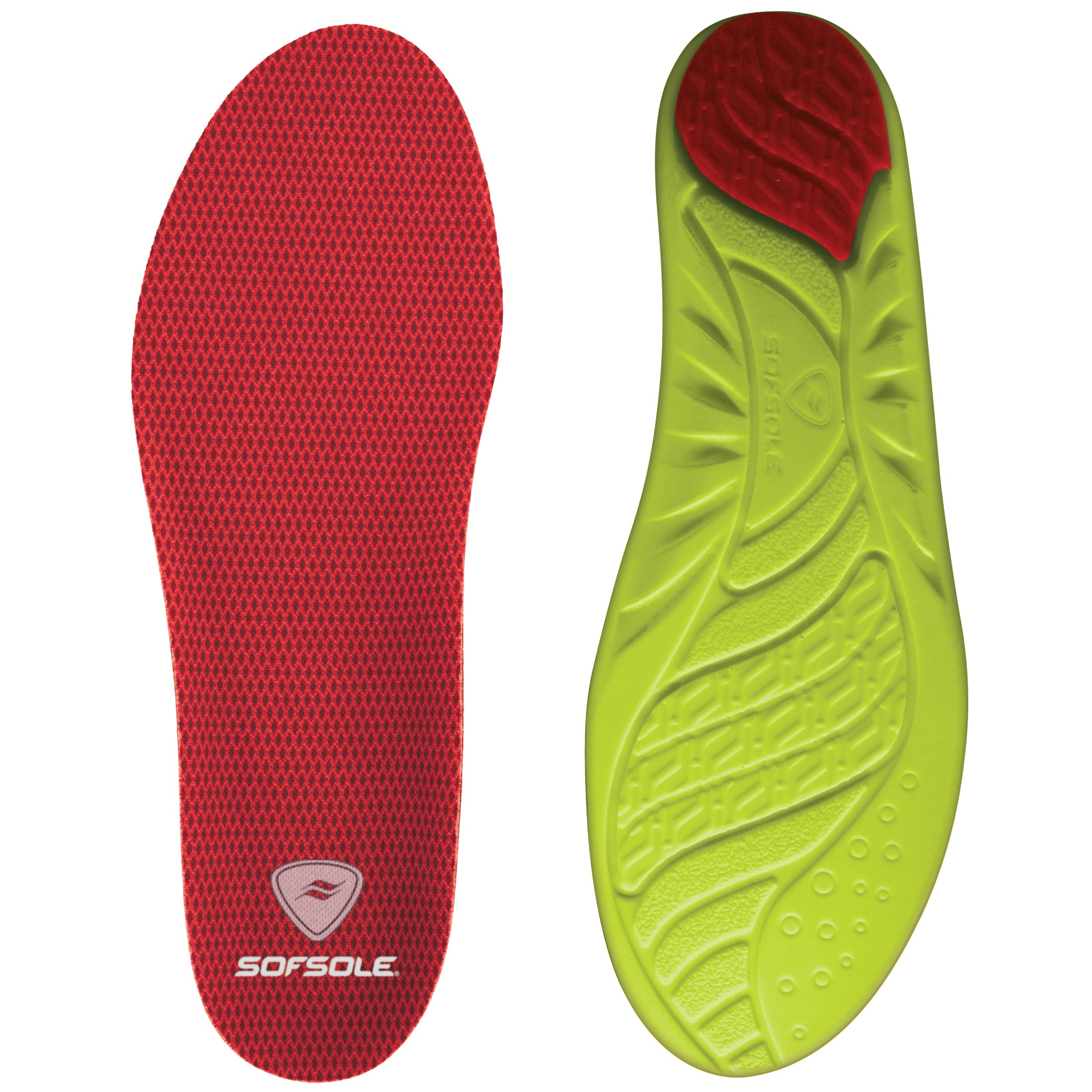 Sof Sole Women's Arch Full Length Comfort High Arch Shoe Insole, Women's Size 8-11 Red