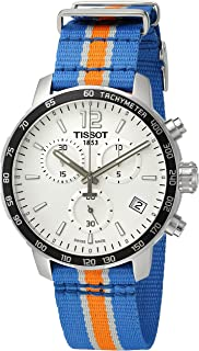 Tissot Mens Quickster Swiss Quartz Stainless Steel and Nylon Watch, Multi Color (