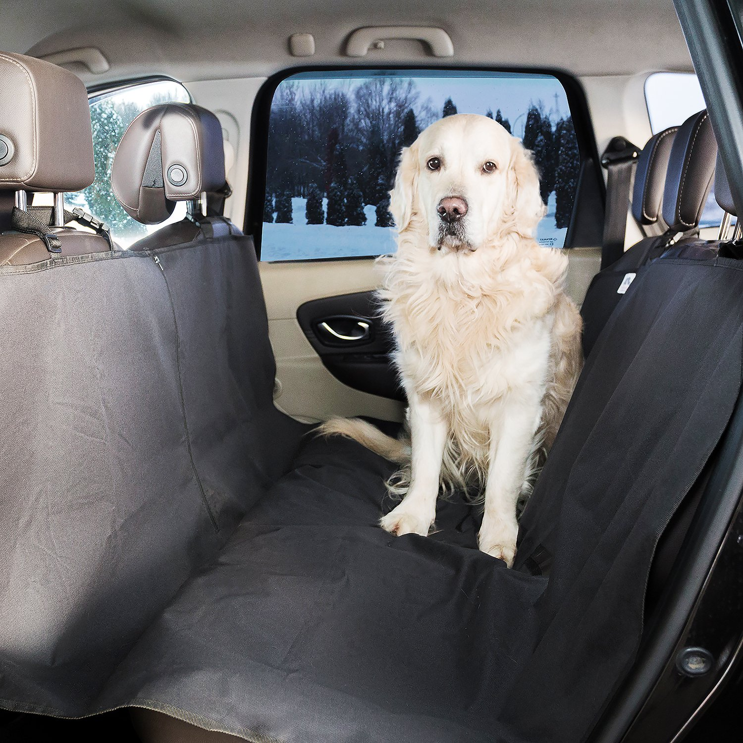 Dog Car Seat Cover Hammock Non-Slip Anti-Dirt Waterproof Protection for Most