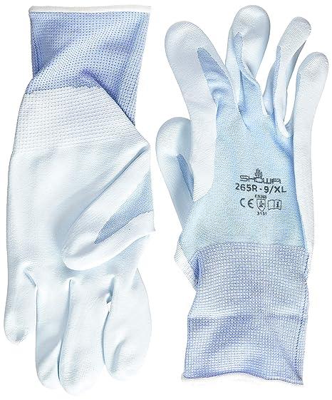1 Paar SHOWA 370 Montage Griff Nitril Handfläche weiße handschuhe 7//M