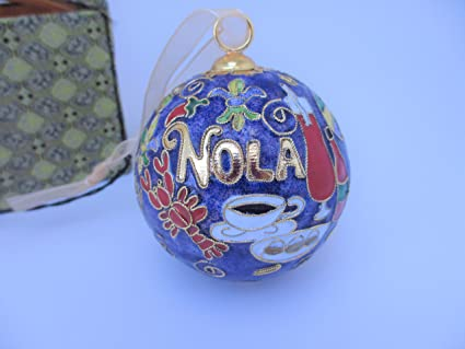 New Orleans Christmas Ornaments.Nola Food New Orleans Cloisonne Collectible Christmas Ornament