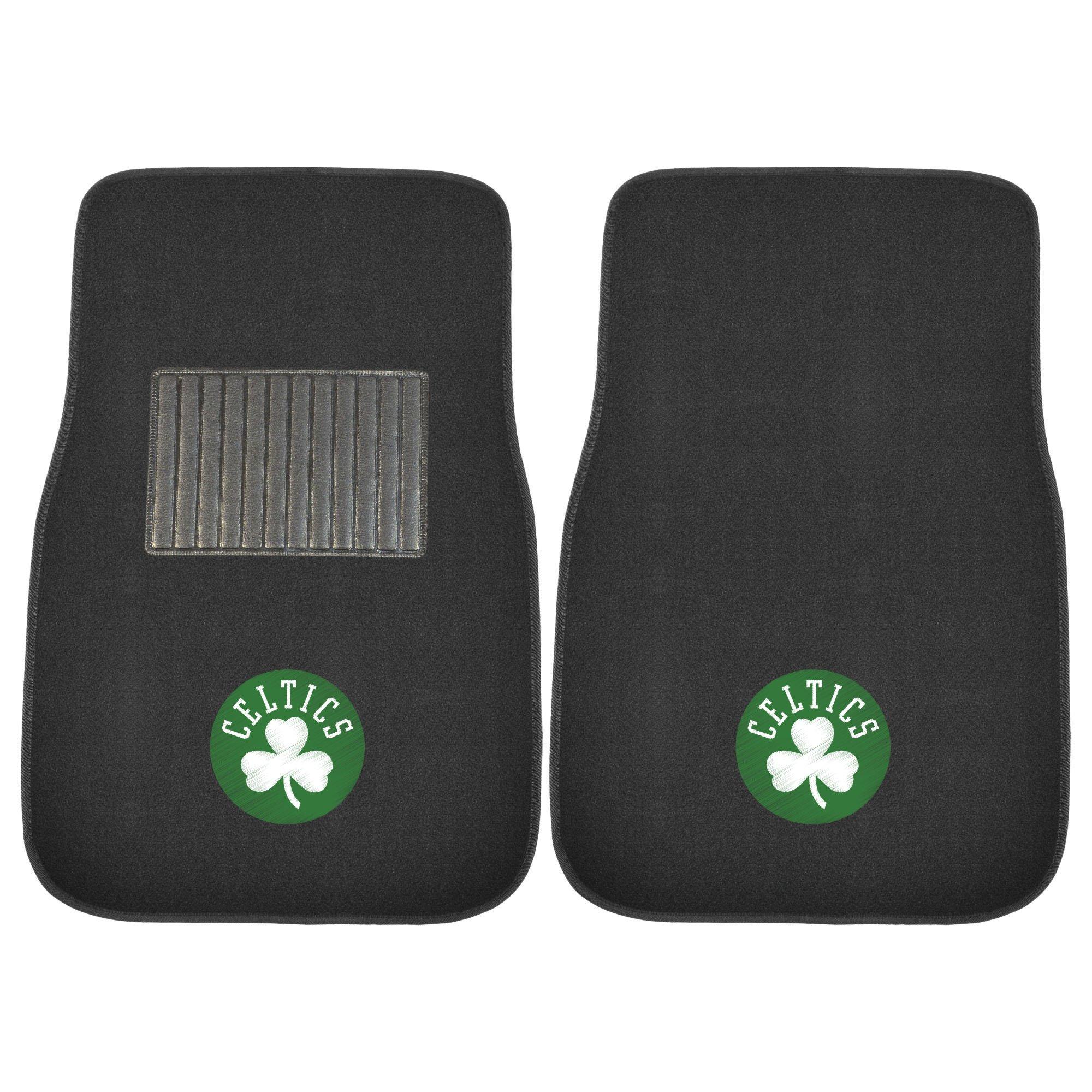 Fanmats 17611 NBA Boston Celtics 2-Piece Embroidered Car Mat