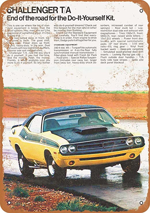 """1970 Dodge Challenger Vintage Ad 10/"""" x 7/"""" Reproduction Metal Sign A238"""