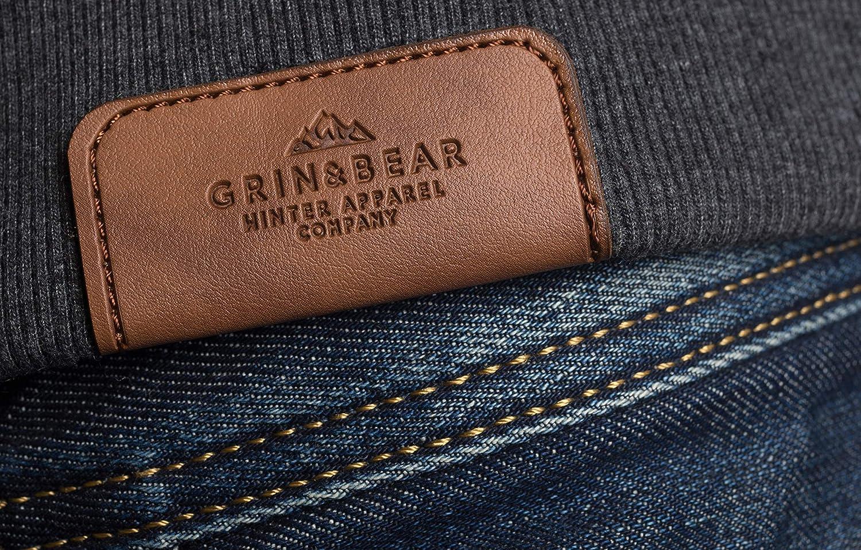 Grin&Bear Herren | Kapuzenpullover | Pullover Hoodie | GEC470 Anthrazit2