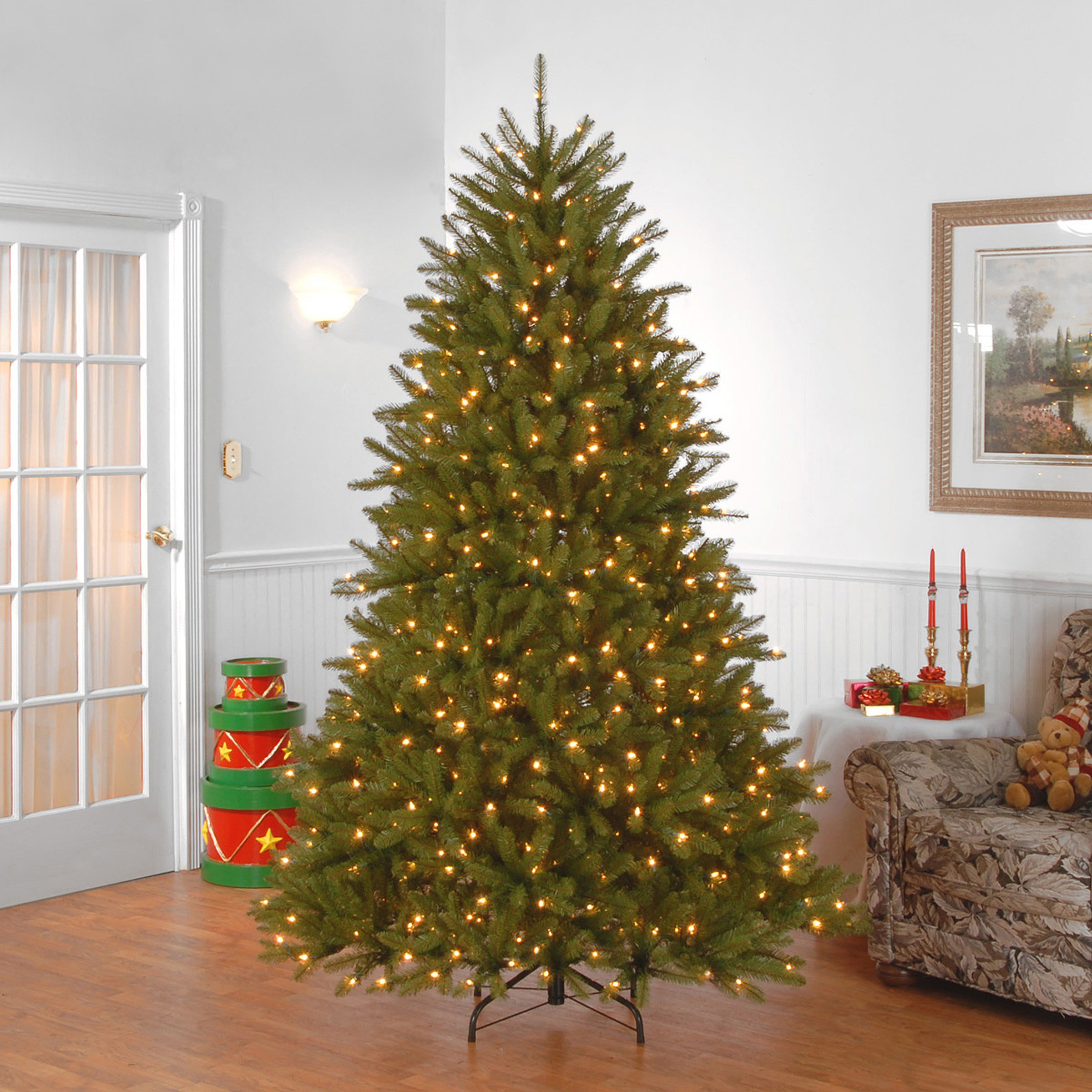 National Tree 7.5 Foot Dunhill Fir Tree with 750 Clear Lights, Hinged (DUH-75LO) by National Tree Company (Image #4)