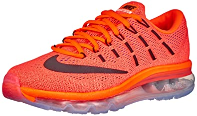 NIKE Women\u0027s Wmns Air Max 2016, Hyper Orange/Black-Sunset Glow, 5