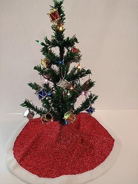 christmas house miniature christmas tree bundle with tree skirt 1 set of lights 12