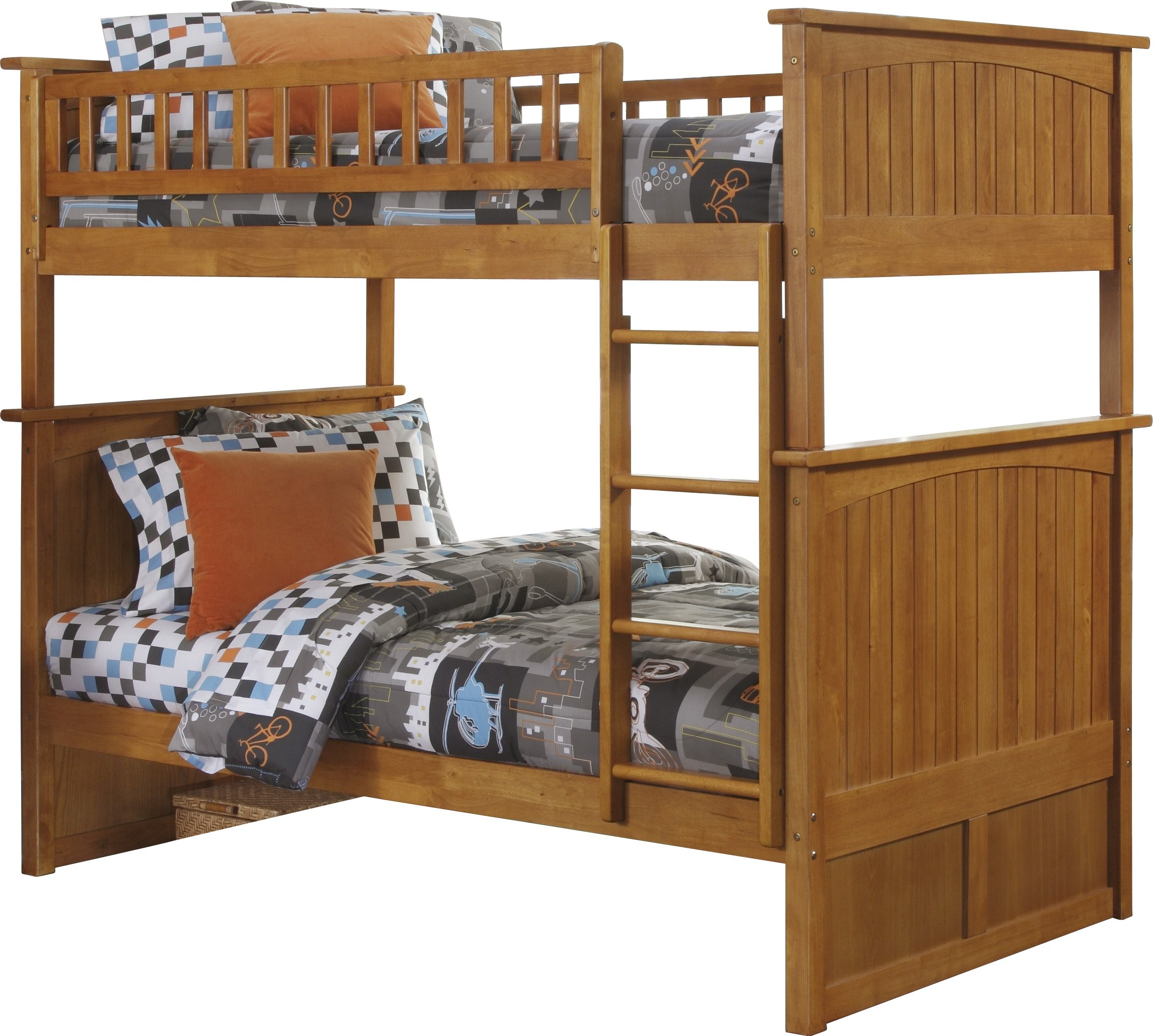 Nantucket Bunk Bed, Twin Over Twin, Caramel Latte
