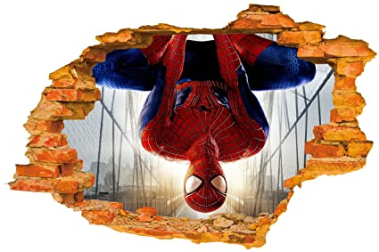 amazon com infinitedots spiderman upside down 3d superhero wall