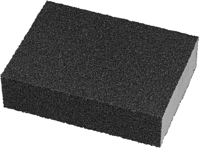 Nass-und Trockenschleifschwamm K 240 5er Set Schleifschw/ämme Schleifklotz extra feine K/örnung vierseitig grau