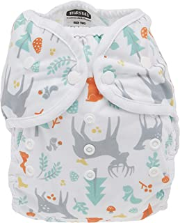 product image for Thirsties Duo Wrap Cloth Diaper Cover, Snap Closure, Woodland Size Two (18-40 lbs)