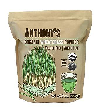 Amazon.com : Anthony's Organic Wheatgrass Powder, 8 oz, Grown in ...