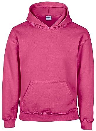 Sudadera Heavy Blend™ de Gildan GD57B, juvenil, con capucha Beige rosa (Safety Pink) talla única: Amazon.es: Ropa y accesorios