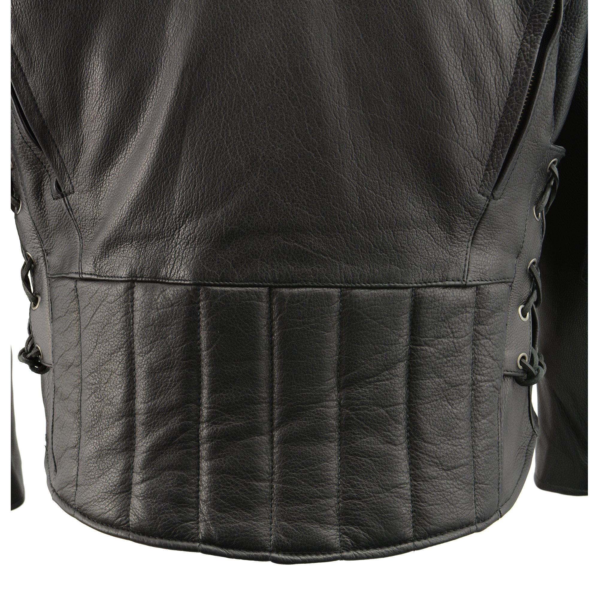 Milwaukee Leather Men's Side Lace Vented Scooter Jacket (Black, 5X-LargeTall) by Milwaukee Leather (Image #10)