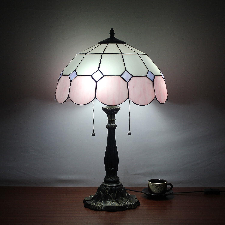 Europea Tiffany Lámpara de mesa de 16 pulgadas de rosa del vintage ...