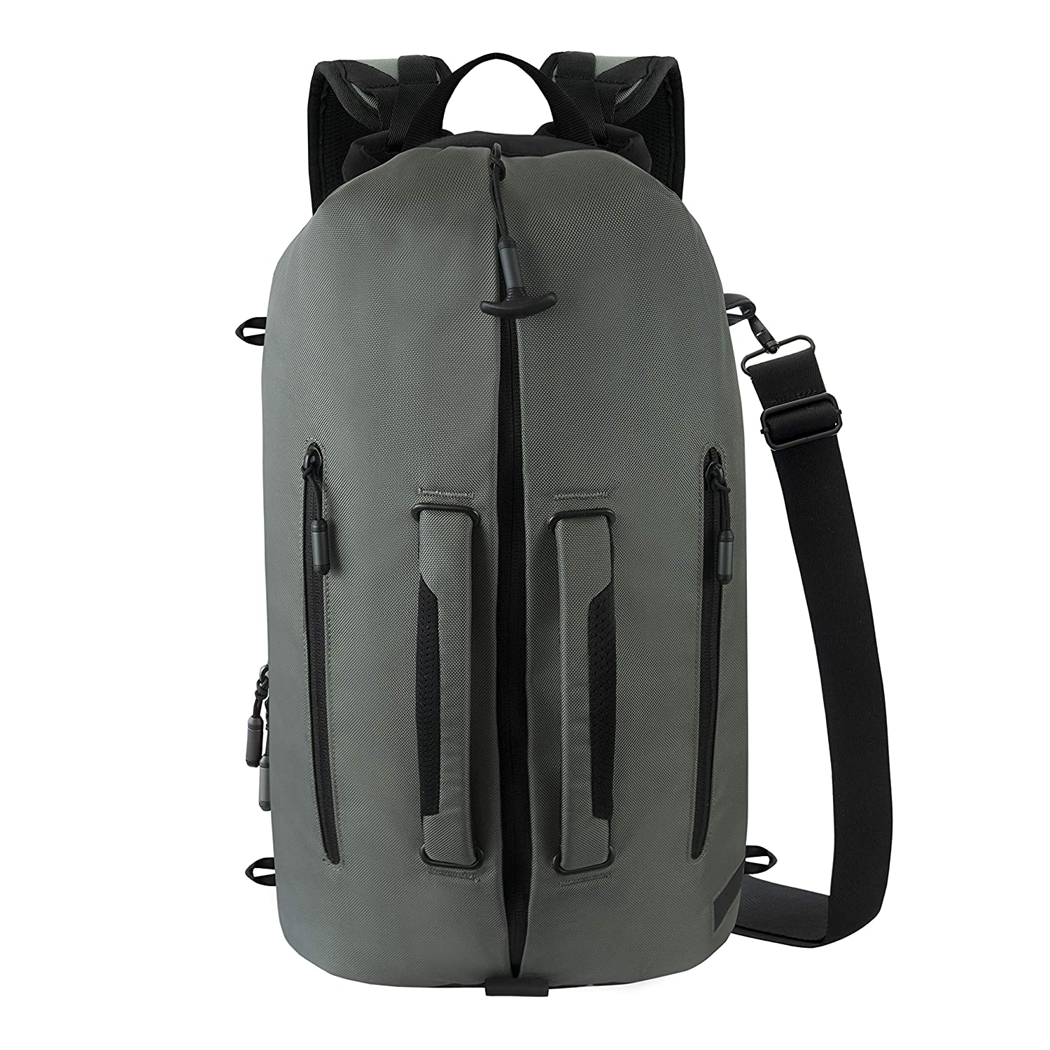 Ascentials Pro Fury, Water Resistant, Durable Nylon Backpack, and Duffel Bag Men and Women, with 15 Inch Laptop Sleeve