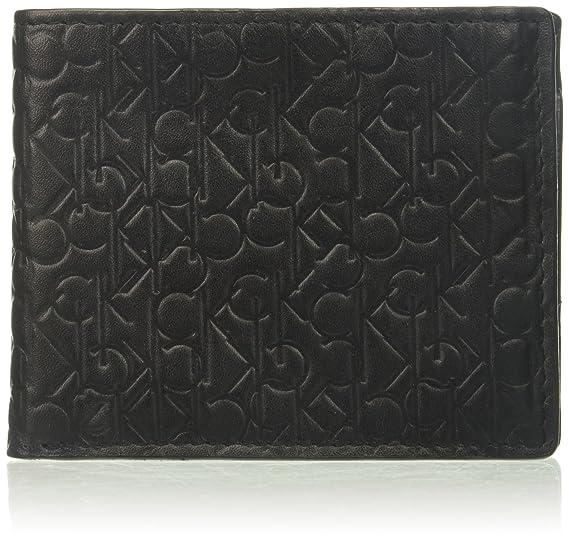 4eccc5f97b21 Calvin Klein Men's Logo Embossed Billfold W/Coin Pocket