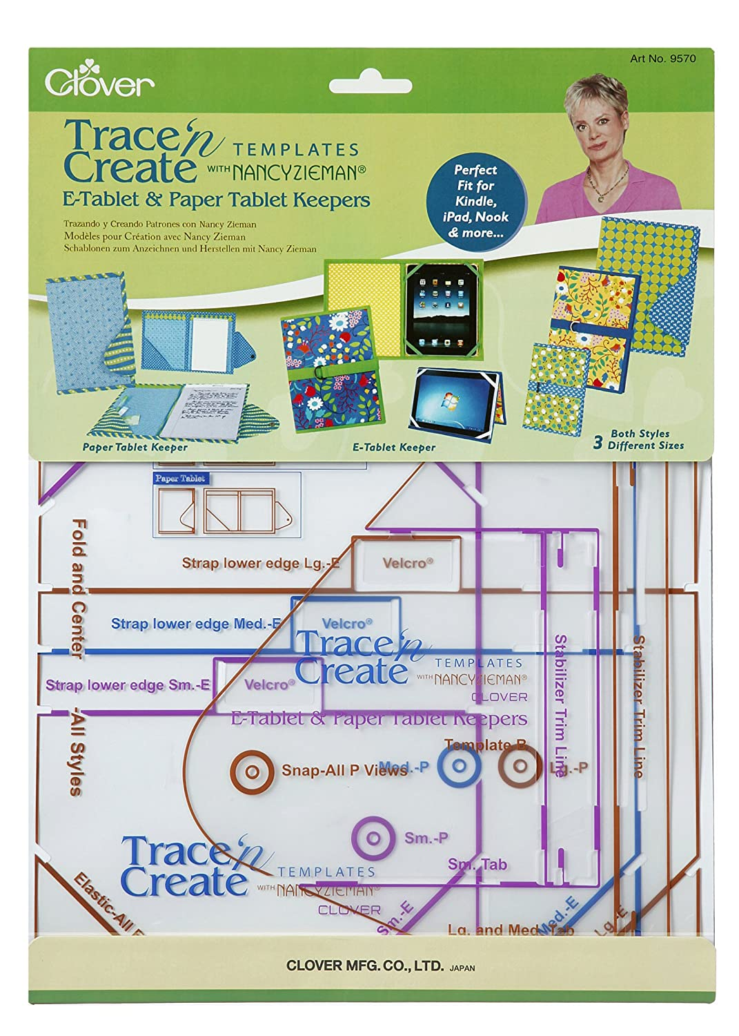 Clover Trace n Create E-Tablet &Paper Tablet Keepers Template with Nancy Zieman 9570