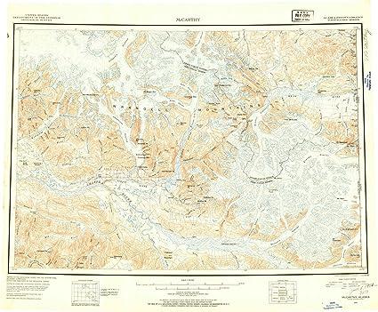 Amazon.com: Alaska Maps   1951 McCarthy, AK USGS Historical ...